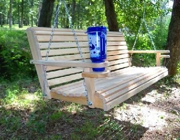 5 Ft Usa Made Cypress Roll Back Porch Swing Coated With
