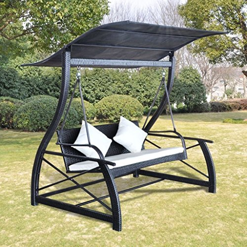 Homedecor Outdoor Patio Canopy Porch Swing Chair Poly